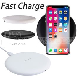 Wholesale Universal Charger 5v 2a - 2018 New 9V 1.67A 5V 2A Fast Quick Qi Charger wireless charging For Samsung S7 Edge S8 Plus Note Iphone 8 X