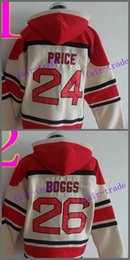 Wholesale Boston Prices - Boston #24 David Price #26 wade boggs Cheap Baseball Hooded Stitched Old Time Hoodies Sweatshirt Jerseys