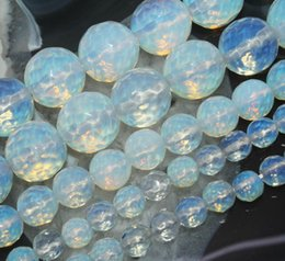"Wholesale Round Opal Bead - New Faceted Sri Lanka Opal Gemstone Round Loose Beads 15"" 4 6 8 10 12 14mm"