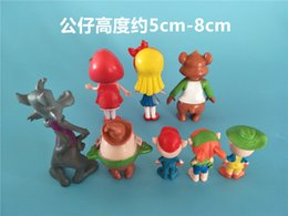 Wholesale Bears Tale - The new 8 pcs Goldie and the Bear Fairy Tale Forest Friends Figure Anime Jack Bear Figures Set of Children Toys Collectible for gifts