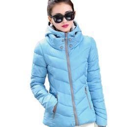 Короткие пальто для женщин дизайн онлайн-Wholesale- 2017 Winter Jacket Women Parka Thick Winter Outerwear Plus Size Coat Short Slim Design Cotton-padded Jackets&Coats TT1332C
