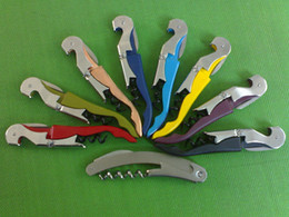 Wholesale Price Functions - Factory price!!! New Arrival Sea Horse Shape Multi-function Bottle Wine Corkscrews Opener Mix colors Free Shipping DHL