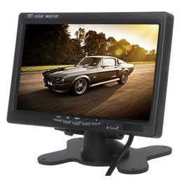 Wholesale Monitor For Fpv - Car 7 inch LCD FPV Monitor Displayer Screen Monitor Photography for Ground Station external battery PAL  NTSC free shipping