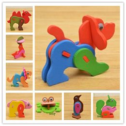 Wholesale Cheap 3d Puzzles - Easy Communication Seller Baby 3d Puzzle Cheap Sale,22 Pieces Lot,EVA3D Small Animals Puzzle,Baby Toy,Soft and Light,No Fading