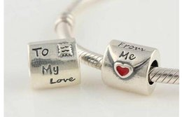 Wholesale 925 Sterling Silver Bead Caps - L077 2014 New TO My Love 100% Genuine 925 Sterling Silver Spacer Bead Charms Jewelry Findings DIY fits Bracelet hot