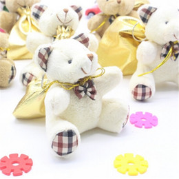 Wholesale Teddy Bear Chocolates - Wholesale-New Idea Golden Backpack Kawaii Teddy Bear Baby Girls Toys Chewing Gum Chocolate Package Lovers Gift 9*8cm Sack 1pcs lot