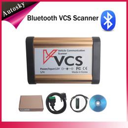 Wholesale Vcs Vehicle Communication Scanner Language - Newly Blutooth Version VCS Super Scanner Multi-language Interface VCS Professional Vehicle Communication VCS Auto Scanner V C S