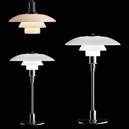 Wholesale Fit Hotels - LED Modern Lamps Denmark Louis Poulsen PH3 Pendant Table Lamp Bedroom Lamp Glass Office Living Room Pendant Light Fitting