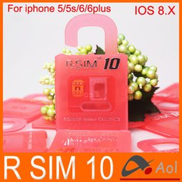 Wholesale Wholesale Iphone 5c Sprint - Newest Original R-SIM 10 rsim 10 R SIM 10 rsim10 Unlock Card for iphone 4S 5 5C 5S 6 6plus iOS6. X-8.X Support Sprint AT&T T-mobile Cricket