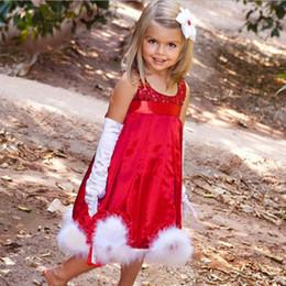 2020 4t rotes ballettröckchen Paillettenkleid der neuen ärmellosen Kinder Super nettes Geschenk Villi bördelt rotes Mädchen Weihnachtskleid 1-5 jähriges freies Einkaufen rabatt 4t rotes ballettröckchen