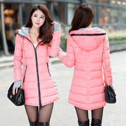 Wholesale Long Puffer Coats Women - Wholesale-New 2015 winter jacket women coat parka Down jackets and coats Parkas ladies clothing casual puffer wadded jacket outerwear