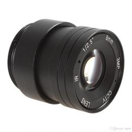 "Wholesale Ir Camera 8mm Lens - High Definition 3MP 1 2.5"" 8mm   F1.4 46 Degree IR CCTV Lens for CCTV Camera CCT_202"