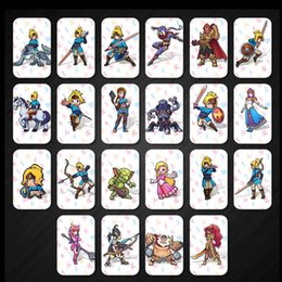Wholesale Plastic Card Printing - New data 22 pcs   set NTAG215 Legend of Zelda printed NFC cards written by tagmo can work with switch NFC breath Wild fierce deity wolf