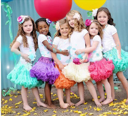 Wholesale Girls Wearing Pettiskirts - 0-10Y New Baby Girls Tutu Skirts Bow Gauze Fluffy Pettiskirts Tutu Princess Party Skirts Ballet Dance Wear 20 Colors High Quality