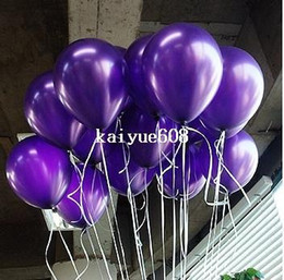 Globos de boda morados online-Envío gratis 100pc / Lot 10 Inch1.5g Dark Purple Balloons Party Nochebuena Wedding Party Decoration Globos