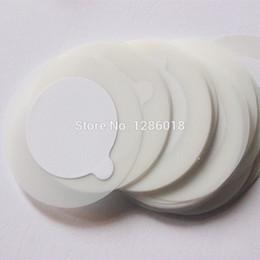 Wholesale Eyelash Glue Holder - Disposable Eyelash glue holder Pallet Easy helpful Eyelash Extension glue pads stand on eyelash jade stone