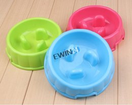 Wholesale Slow Feed - Go Slow Anti-Gulping Dog Bowl Preventing Indigestion Vomiting Bloating Dish Dog Pets Feed Toys Bowls and Feeders