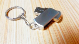 Wholesale Key Usb Flash Drive 32gb - 32GB 64GB 128GB 256GB USB2.0 Key Chain Stainless Steel rotat USB 2.0 Key Chain Swivel USB Flash memory stick USB flash drives