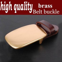 Wholesale Inner Gusset - High-quality men's belt buckle belt buckle copper agio solid copper gusset plate buckles agio inner diameter 3.8 wide Z017