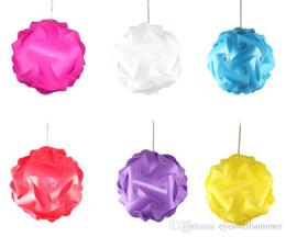 Wholesale Wholesale Jigsaw Lamps - 60X 2015 new DIY Modern Pendant Ball Novel IQ Lamp Jigsaw Puzzle Pendants Colorful Pendant Lights LED DIY Adjustable Chandelier Ceiling Lamp
