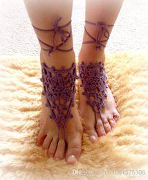 Wholesale Gladiator Sandal Crochet - Crochet Barefoot Sandals Beach Pool Wear Yoga Shoes Valentine, Feet Fetish, Goth, Pick your Color