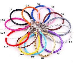 joyería de pulsera de cuero de las niñas Rebajas Las pulseras baratas para Infinity joyería de cuero de la venta de la manera Infinity pulsera del encanto de la joyería de moda al por mayor de la vendimia 0028DR descuento-