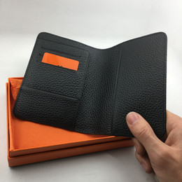 Wholesale Travel Wallets Passport Holders - 6 Colors Genuine Leather Passport Holder wallet Travel Classic Brand Designer High Quality Credit Card Holder ID Card Case Passport Cover