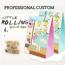 Wholesale Wholesale Bakery Boxes Free Shipping - Bakery Baking Carton Breathable design Cartoon Cowboy Boxes white cardboard Cookies Cookies Sugar Boxes free shipping