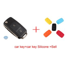 Wholesale Volkswagen Key Replacement - 2 Buttons Remote Flip Folding Car Key Shell Replacement for VW Volkswagen Golf MK4 Bora Uncut Blade Keyless Car Key Case Cover