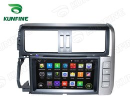 Wholesale Toyota Prado Android - Quad Core 1024*600 HD Screen Android 5.1 Car DVD GPS Navigation Player for Toyota Prado 10-13 Radio Bluetooth Wifi steering wheel control