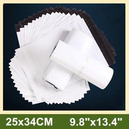 """Почтовая вода онлайн-Оптовые 9.8'x13.4 """"/ 25x34cm Water Proof White Poly Mailer Сумки Пластиковые конверты Сумки Почтовые пакеты 100pcs / lot"""
