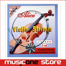 sintonizzatori fine violino Sconti Alice Violin Set String A703 2nd Guitar String all'ingrosso spedizione gratuita MU0259-2