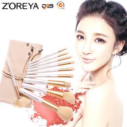 Wholesale Brush Zoreya - Zoreya 10pcs Professional Cosmetic Tools Makeup Brush Set For Beauty Women Foundation Powder Blush Eyeliner Make Up Brushes