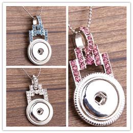 Wholesale Padlock Pendant Necklace - Mix 2 style 6 colors NOOSA DIY Padlock CZ stone button alloy Pendant necklace Fit 20pcs sale Free Shipping