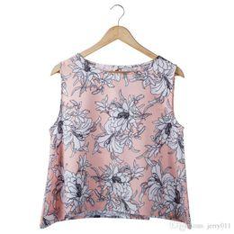 Wholesale Blouse T Shirt Women - New Fashion Women Girl camis Casual Chiffon Vest Top tee Tank Sleeveless T Shirt Blouse