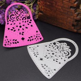 Wholesale Gift Baskets Flowers - A basket of Flowers Metal Cutting Dies Stencil for DIY Scrapbooking Photo Album Paper Card Creation Gift Decoration Folder