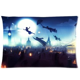 Wholesale Two Sided Pans - Attractive Peter Pan Cartoon Two Side Fashion Custom Rectangle Best Pillowcase Pillow Case Cover 20X30 Inch