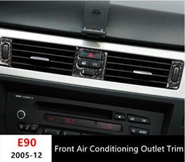 Wholesale Car Front Panel - Front Air Conditioning Outlet panel decoration cover trim 5pcs for BMW 3 Series e90 2005-12 Carbon fiber Car styling