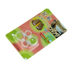 Wholesale New Magnetic Silicon - 2015 New sale 4pcs lot Double Magnetic Silicon Foot Massage Toe Ring Weight Loss Slimming Easy Healthy magic slimming toe ring
