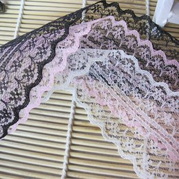 Wholesale Toddler White Lace Leggings - Wholesale-20pcs   lot No stretch lace wide 4.9cm Headband Rainbow Infants Toddlers Teens DIY embellishment clothing or bags accessories