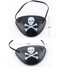 Wholesale Pirate Costumes Children - Black Skull Crossbone Pirate Eye Patch Costume Accessory Party Gift for Kids