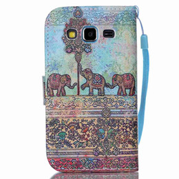 Wholesale Galaxy S3 Wallets - Luxury Wallet Leather Pouch Case Flower TPU ID Card Stand Strip Girl finger For Samsung Galaxy Core Prime G360 Grand G530 S3 S4 S5 mini skin