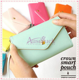 Canada Coin Purses Plus belle Crown Smart Pouch Multi propose enveloppe Purse Wallet Pour Galaxy S2, S3, iphone Offre