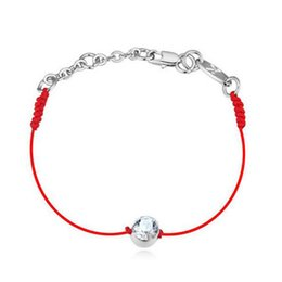 Wholesale Thin Bracelets Crystal - Crystals jewelry thin red thread string rope Charm Bracelets & bangles for women Fashion New sale Top Hot summer style