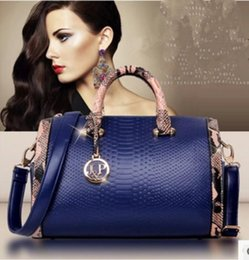 Wholesale Cheap Women Bag Fashion - New fashion women Handbags cheap real snakeskin Pu leather bag leather Handbag classicBolsas Femininas Messenger bag Shoulder bag