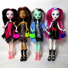 Wholesale Small Pendant Gift Boxes - Cheapest No Box 4 Pcs  Set Dolls New Style High Dolls Monster Fun High Moveable Joint Body Fashion Dolls Girls Toys Best Gift