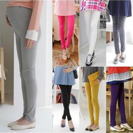 Wholesale Women Maternity Pants - 8288# Super Elastic Knitted Cotton Maternity Legging Pants Clothes for Pregnant Women Autumn Waist Adjustable Pregnancy Wear