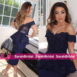 Wholesale Cheap Peplum Wedding Dresses - Women Fashion Cocktail Dresses 2015 Cheap Wedding Evening Christmas Party Gowns Peplum Pencil Skirt 2016 New Formal Arabic Arab Sexy Wear