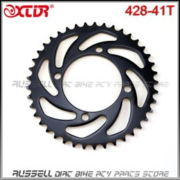 Wholesale Bike Parts Sprocket - Rear chain Wheel sprocket Gear #428 - 41T Tooth 76mm FOR dirt Pit bike motorcycle ATV Quad accessories Parts