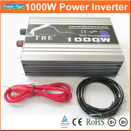 Wholesale 1kw Pure Sine Wave Inverter - Auto Car Power Inverter Converter 1000W 1KW Pure Sine Wave Inverter DC TO AC 12V 220V With USB for Notebook Laptop Adapter